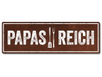Interluxe Metallschild - Papas Reich - Schild in extra...