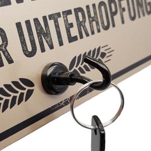 Schilderkönig Metallschild mit Flaschenöffner -...