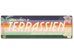 Interluxe Metallschild - Terrassien Retro - wetterfestes...