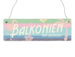 Interluxe Holzschild - Balkonien Retro - Wandschild...