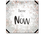 Interluxe Metallschild 20x20cm - Here & now -...