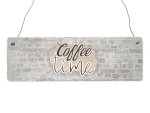 Interluxe Holzschild - Coffee Time - Wandschild für...