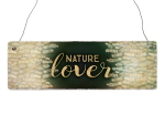 Interluxe Holzschild - Nature Lover - schönes Schild...