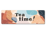 Interluxe Metallschild - Tea time abstract - Schild als...