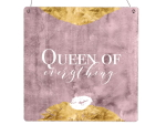 Interluxe Holzschild  XL - Queen of everything - Schild...
