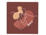 Interluxe Holzschild XL - Love Lineart - Schild als...
