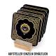 Interluxe LED Untersetzer - Black Whisky C - leuchtender Untersetzer für Whiskygläser als Bardeko oder Geschenk für Whiskytrinker