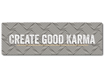 Interluxe Metallschild -  Create good Karma - Geschenk...