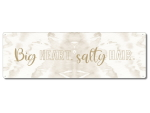 Interluxe Metallschild - Big heart salty hair - Urlaub,...