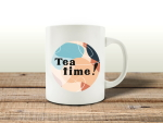 TASSE Kaffeebecher - Tea Time neu - Lieblingstasse...