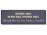 Interluxe Metallschild - Superman single, Batman single,...