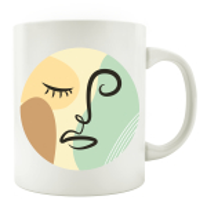 TASSE Kaffeebecher - Gesicht Mid Century A - Lineart Face...