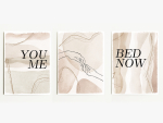 Interluxe Magnet 3er Set - You Me Bed Now - 95x70mm...