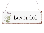 Interluxe Holzschild - Lavendel - dekoratives Schild...