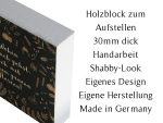 HOLZBLOCK Shabby - Dont have a bucket list - Geschenkidee...