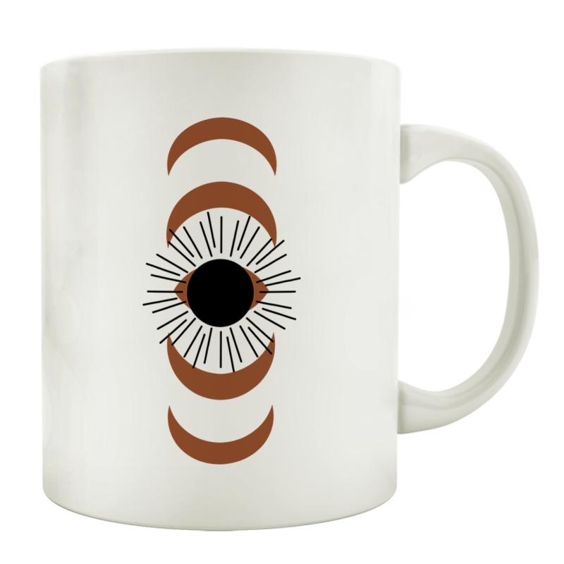 TASSE Kaffeebecher - Geo Art Z - Lieblingstasse, Geschenk für Familie, Freunde, Bekannte, Mid Century, Nordic, Minimalisim