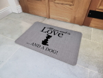 Interluxe Fußmatte 40x60 cm  - All you need is love...