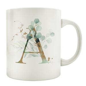 TASSE Kaffeebecher - Eukalyptus GOLD A - Z -...