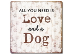 Interluxe Metallschild 20x20cm - All you need is love and...