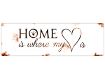 METALLSCHILD Shabby Blechschild Dekoschild HOME IS WHERE...