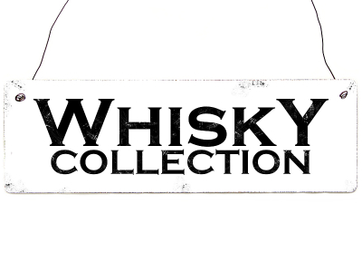 Vintage Shabby Holzschild Dekoschild WHISKY COLLECTION Geschenk