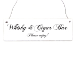 Holzschild WHISKY & CIGAR BAR