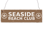 Holzschild Shabby Vintage Dekoschild SEASIDE BEACH CLUB...