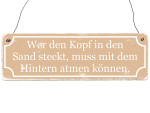 Holzschild Shabby Vintage Dekoschild Motivation WER DEN...