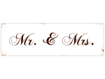 METALLSCHILD Shabby Vintage Blechschild MR. & MRS....