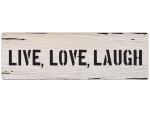 METALLSCHILD Blechschild Türschild LIVE LOVE LAUGH...