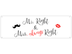 Blechschild METALLSCHILD Türschild MR. RIGHT & MRS....