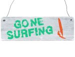 Holzschild Shabby Vintage Retro GONE SURFING...