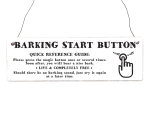 Holzschild Shabby Vintage Retro BARKING START BUTTON...