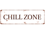 METALLSCHILD Shabby Vintage Blechschild CHILL ZONE...