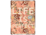 WANDSCHILD Metallschild LIFE IS PERFECT Shabby Vintage...