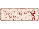 INTERLUXE METALLSCHILD Shabby Blechschild HAPPY HOHOHO TO...