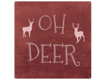 INTERLUXE 20x20cm METALLSCHILD OH DEER - Weihnachten...