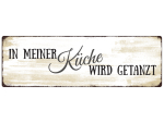 INTERLUXE METALLSCHILD Shabby Blechschild IN MEINER...