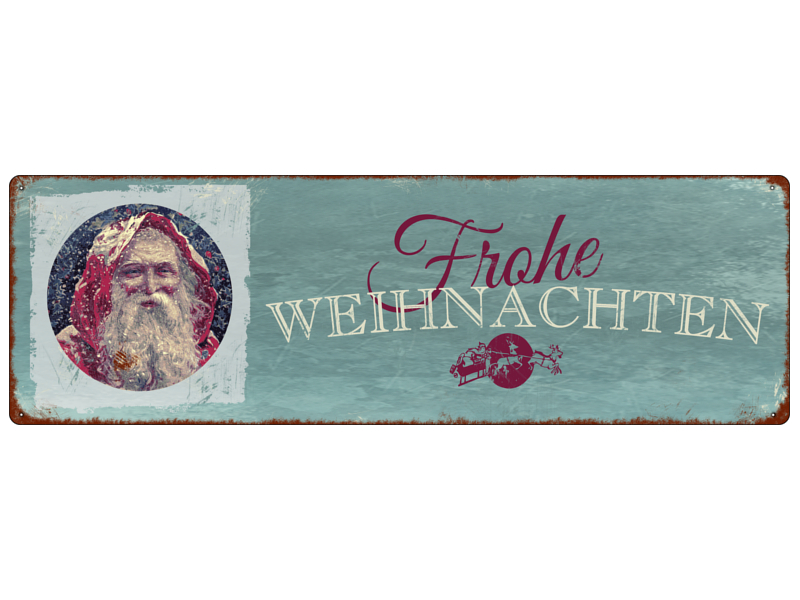 interluxe metallschild shabby blechschild frohe weihnachten vintage x. Black Bedroom Furniture Sets. Home Design Ideas