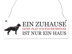 INTERLUXE Holzschild FLAT COATED RETRIEVER Hunde Tierisch...