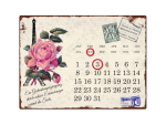 INTERLUXE KALENDER Metall  Shabby Wandkalender PARIS ROSE...