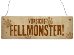 INTERLUXE Holzschild FELLMONSTER Tierisch Dekoration...