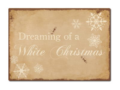 LUXECARDS POSTKARTE Holzpostkarte DREAMING OF A WHITE CHRISTMAS Weihnachten