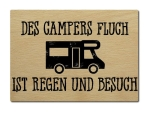 LUXECARDS POSTKARTE aus Holz DES CAMPERS FLUCH Spruch...