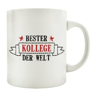 TASSE Kaffeebecher BESTER KOLLEGE Geschenk Spruch Motiv...