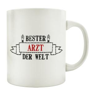 TASSE Kaffeebecher BESTER ARZT Geschenk Spruch Motiv...