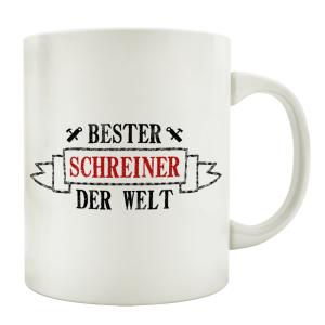 TASSE Kaffeebecher BESTER SCHREINER Geschenk Spruch Motiv...
