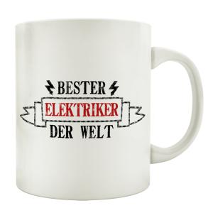 TASSE Kaffeebecher BESTER ELEKTRIKER Geschenk Spruch...