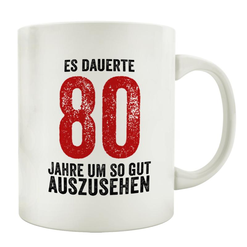 Tasse Kaffeebecher Es Dauerte 80 Jahre Lustig Geburtstag Teetasse Spr