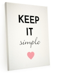 INTERLUXE LEINWAND Shabby KEEP IT SIMPLE Modern Geschenk...